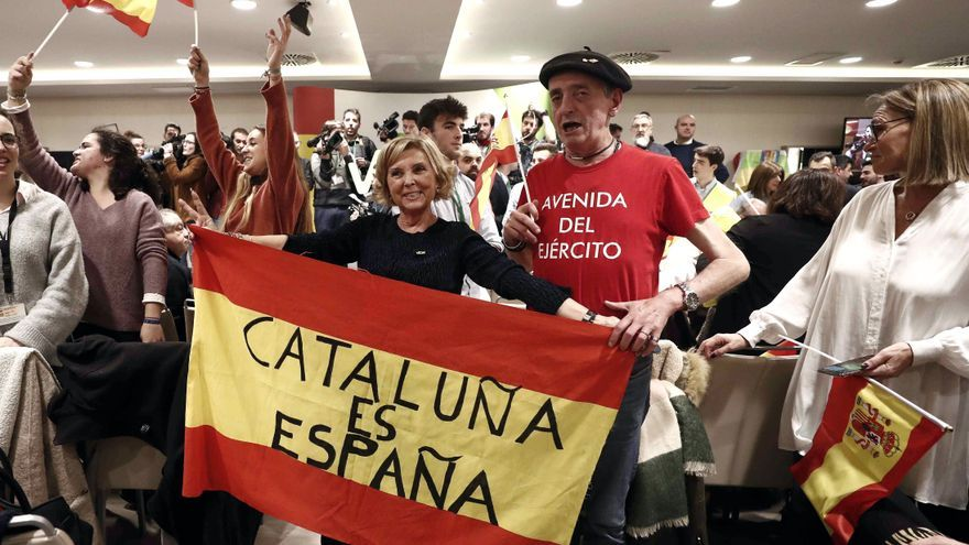 El presidente de Vox, Santiago Abascal, presenta esta tarde en Pamplona el proyecto de su formación política.