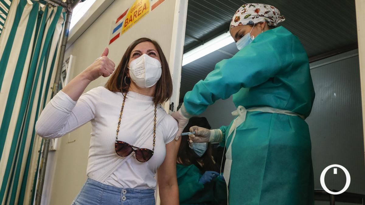 Vacunación de profesores en Montilla
