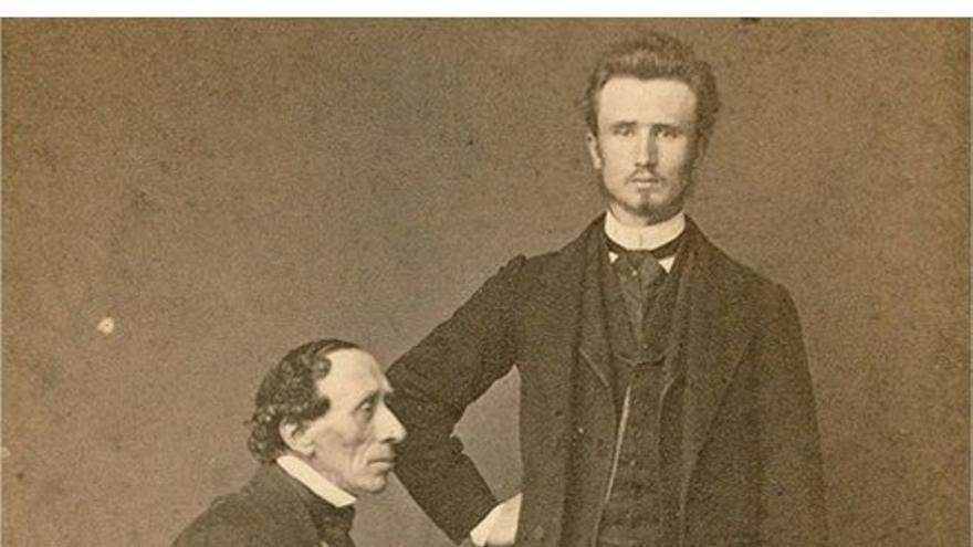 Christian Andersen junto a Edvard Collin. (DP).