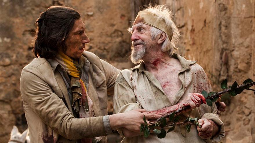 Jonathan Pyrce como Don Quijote y Adam Driver, su Sancho Panza