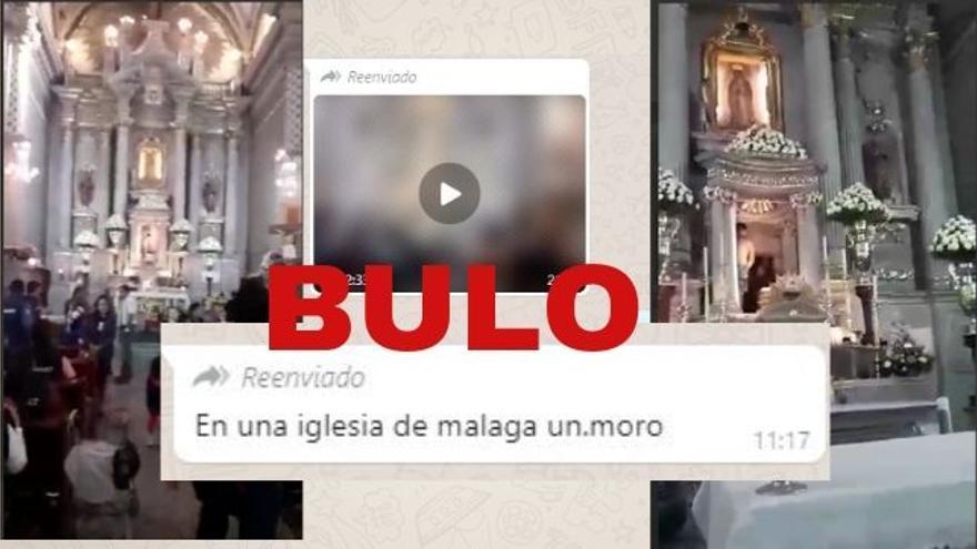 """Este vídeo de un hombre desnudo en un altar no corresponde a """"una iglesia de Málaga"""" y no hay pruebas de que sea """"un moro"""": el vídeo fue grabado en México"""