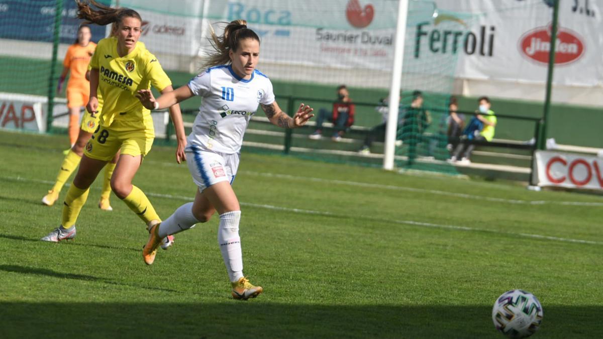 Natalia Montilla, en el duelo con el Villarreal.
