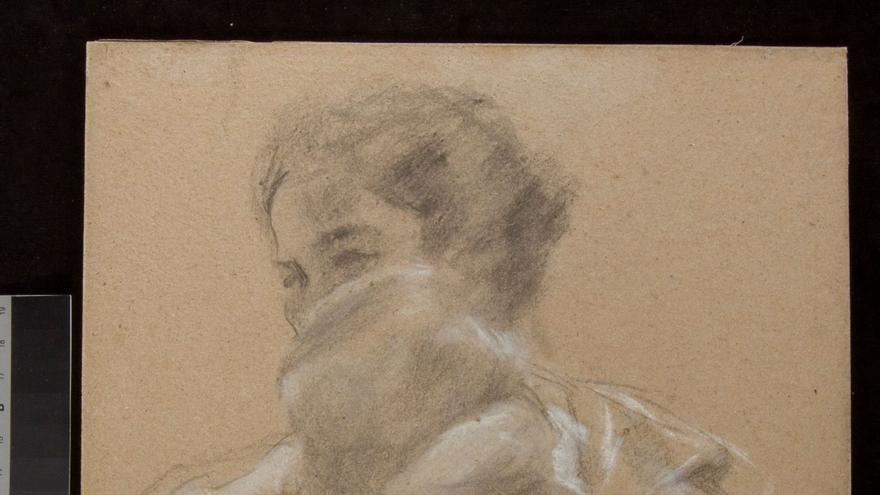 Uno de los dibujos de la exposición de Sorolla