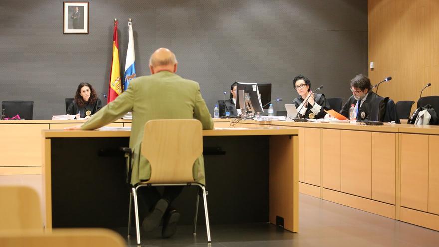 El subinspector de Hacienda que asegura haber descubierto la Gürtel canaria, durante su declaración como perito en un juicio en marzo.