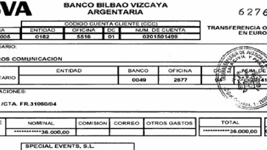 Cheque de la Gürtel a favor de la empresa del exdirector de comunicación del PP