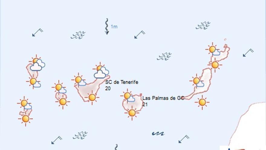 Previsión del tiempo en Canarias. (AEMET)