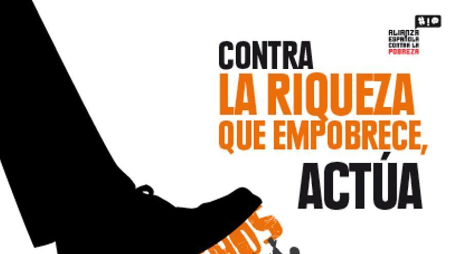 Cartel marcha 17 de octubre de ONGD en Toledo