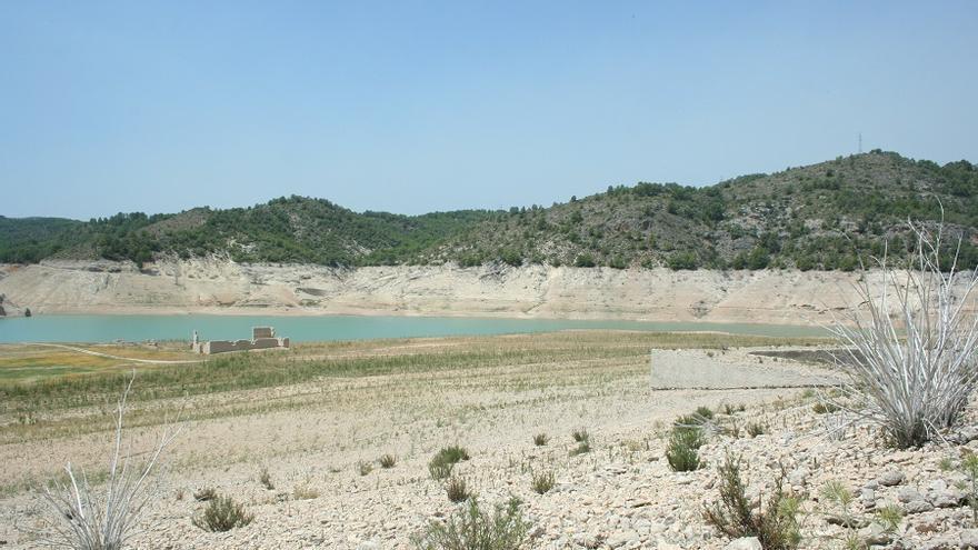 Imagen del pantano de la Fuensanta (2 de agosto de 2017) .