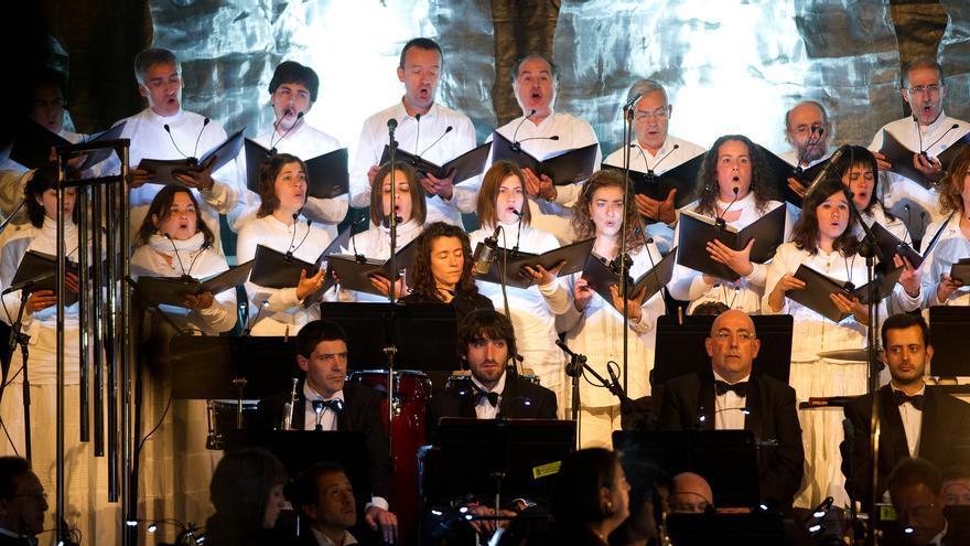 Una de las actuaciones de la Banda Municipal de Música de Vitoria.