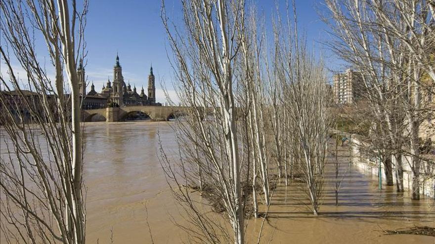 El caudal del Ebro aumenta y puede acercarse a otra avenida extraordinaria