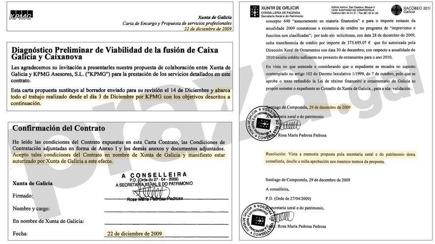 Carta de encargo (22 de diciembre) con referencia al inicio del trabajo (3 de diciembre) y memoria sobre la necesidad de contratar le informe (29 de diciembre)