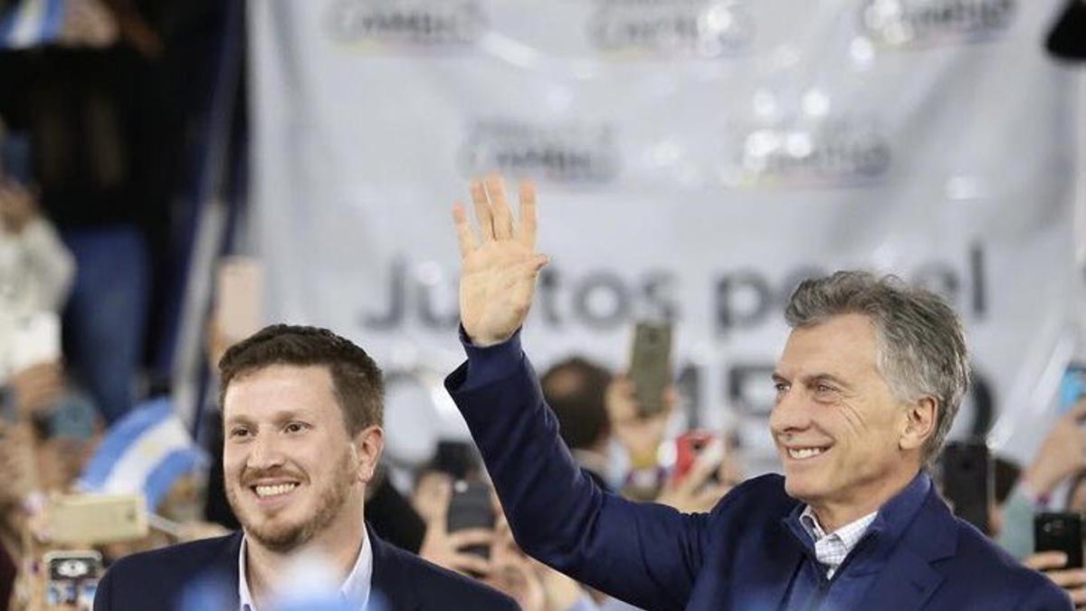 Macri, de campaña junto al santafesino Federico Angelini en 2019.