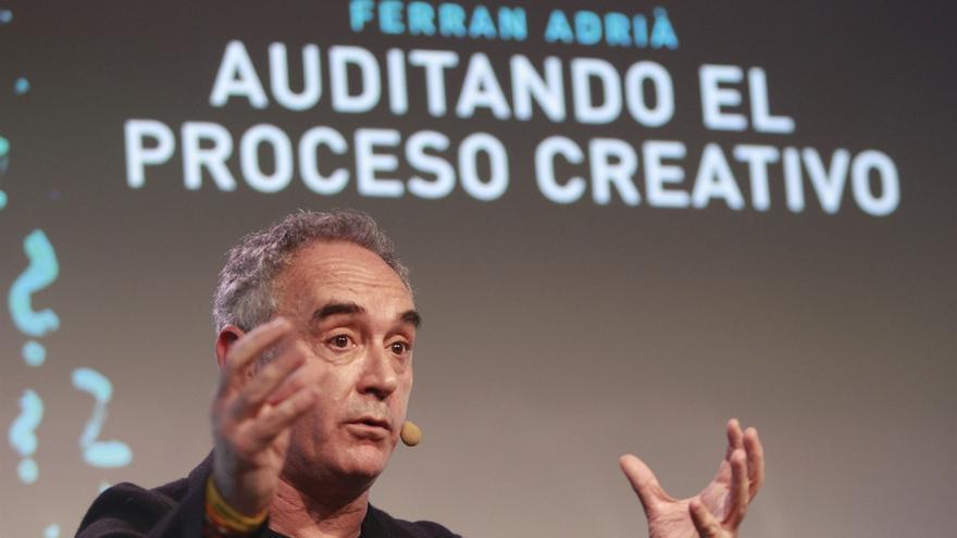 Ferrán Adriá, chef, que este martes estará en un IES de Santa Cruz, con presencia del presidente Fernando Clavijo
