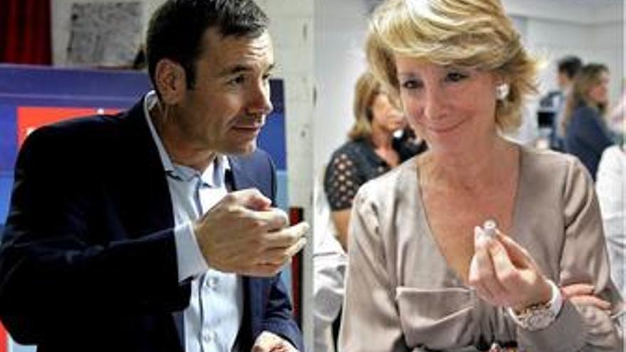Tomás Gómez y Esperanza Aguirre