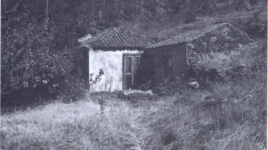 Casa natal de Juan Régulo en Cueva de Agua, Garafía, La Palma (1984).