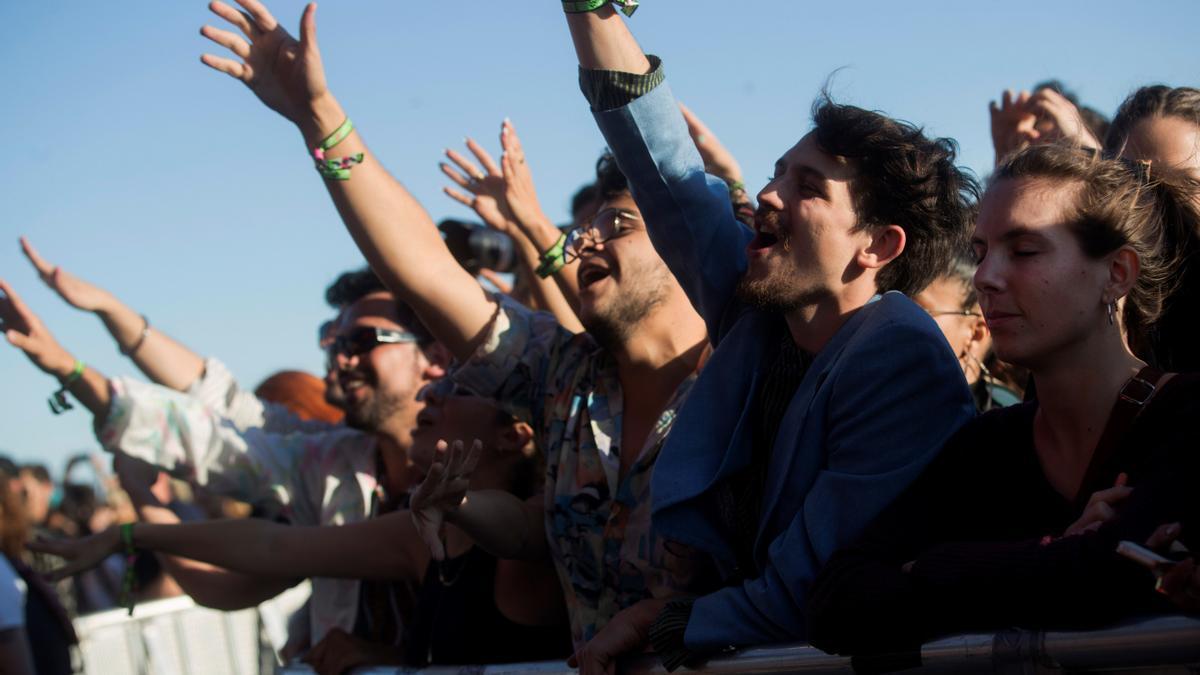 Asistentes a un concierto del Primavera Sound Barcelona, en una imagen de archivo.