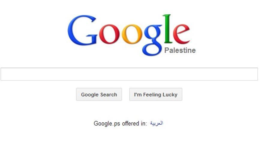 Página de inicio de Google Palestina