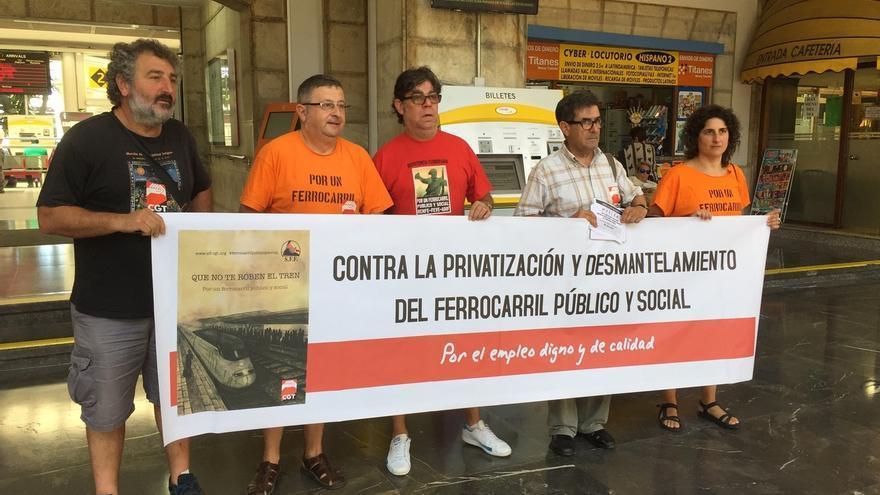 CGT espera que más del 70% de los trabajadores se sume a la huelga de trenes