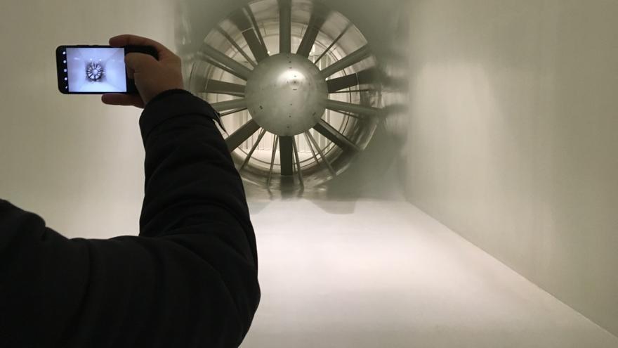 Interior de la turbina del túnel del viento de Epsilon Euskadi.