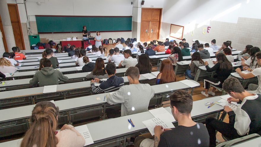 Estudiantes en El Hierro