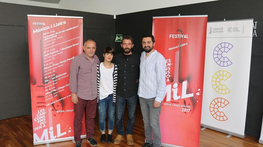 Imatge de la presentació del Festival MiL de Xàtiva