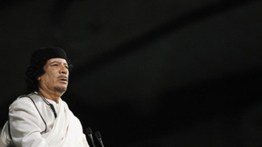 Líder libio, Muamar Gadafi