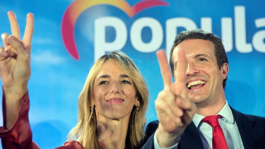 Cayetana Álvarez de Toledo y Pablo Casado. PP. EFE