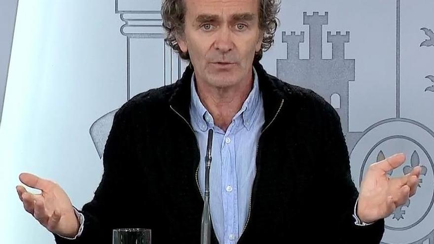 Fernando Simón, en una de sus ruedas de prensa diarias.