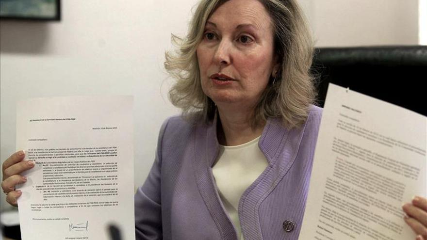 Amparo Valcarce renuncia a su aspiración de ser candidata del PSOE en Madrid