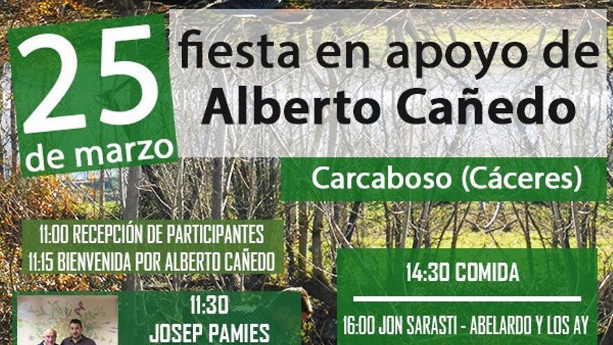 Fiesta de apoyo a Alberto Cañedo