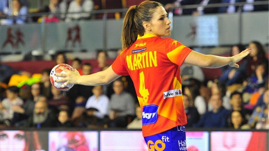 Carmen Martín, la almeriense, capitana de la selección española de balonmano