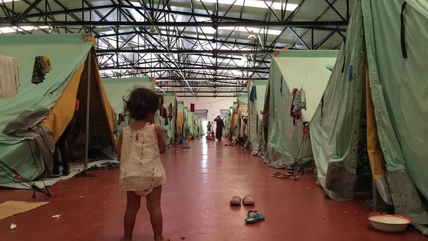 Campo de refugiados de Kaloxori, en Tesalónica (2016).
