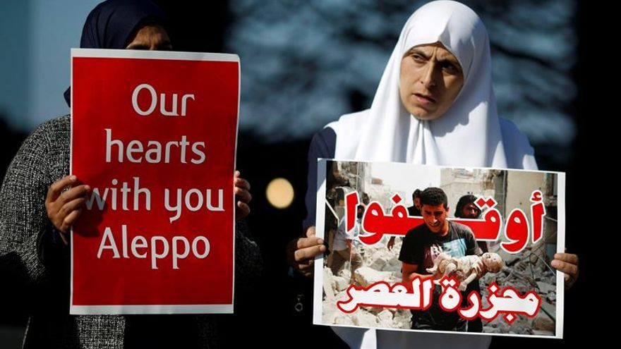 Más de 110.000 desplazados de Alepo oriental en un mes, según la ONU