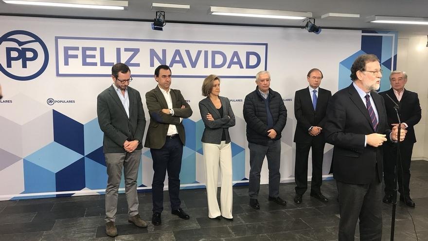 """Rajoy recuerda, la víspera del 21D, que también había malos pronósticos en 2015 para el PP: """"Y aquí estamos"""""""