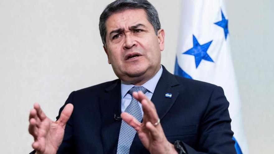 En la imagen, el presidente de Honduras, Juan Orlando Hernández.