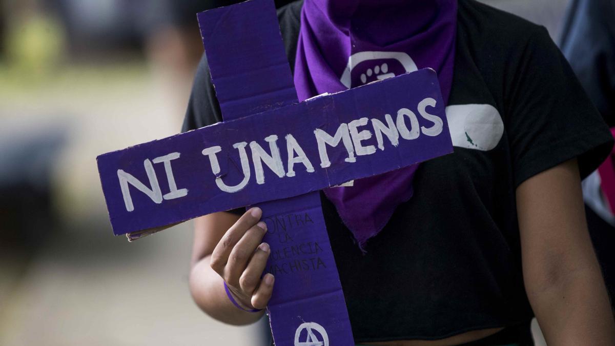 Imagen de archivo de una manifestación contra la violencia machista. EFE/Jorge Torres/Archivo