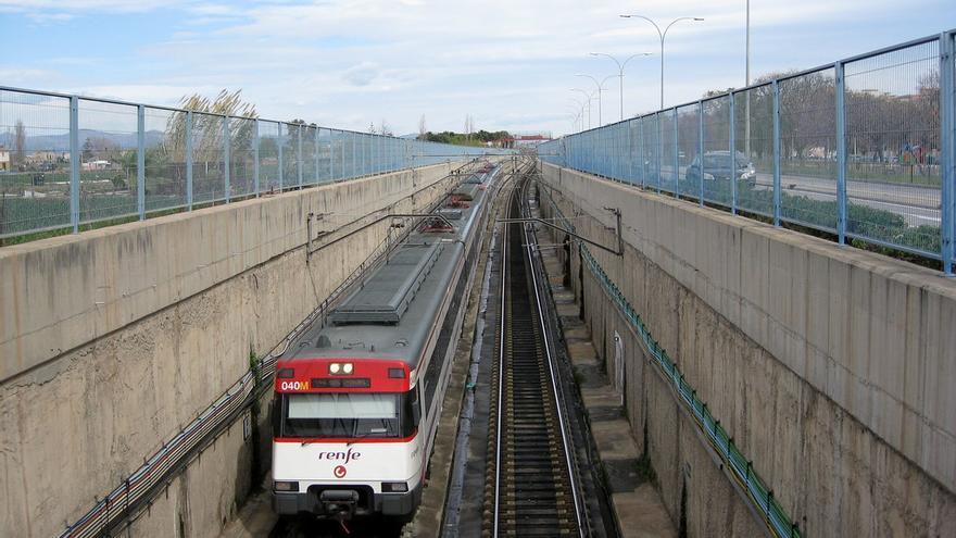 Tren de Cercanías de Renfe Castelló-València.
