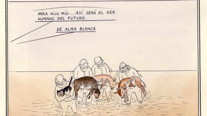 Río Ebro. Dibujo: Paco Catalán Carrión