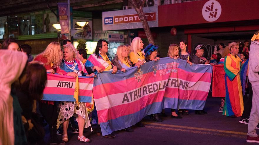 Activistas trans en la March por la Diversidad en Montevideo en septiembre de 2018.