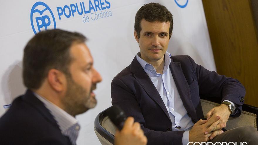 Pablo Casado, en una reciente visita a Córdoba.