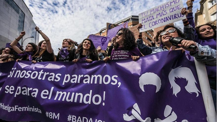 Marcha feminista en Badajoz