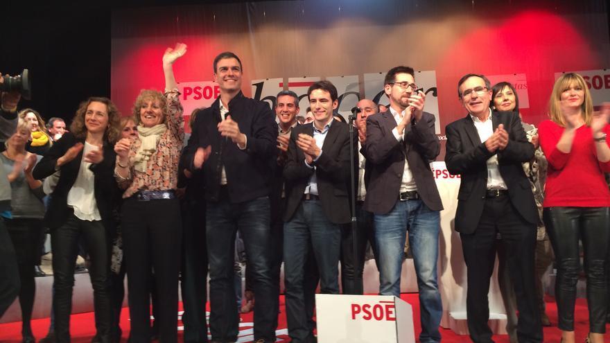 Sánchez ha protagonizado el acto de presentación de los candidatos del PSOE a la Presidencia de Cantabria y a los municipios de la región.
