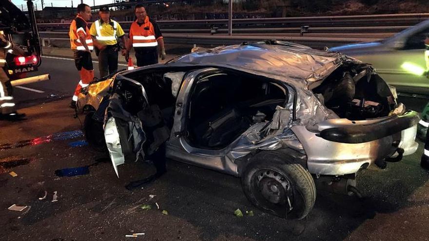 Imagen de un accidente mortal de tráfico registrado en Vigo en el mes de mayo.
