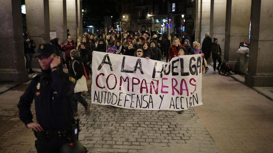 Pasacalles feminista en Madrid