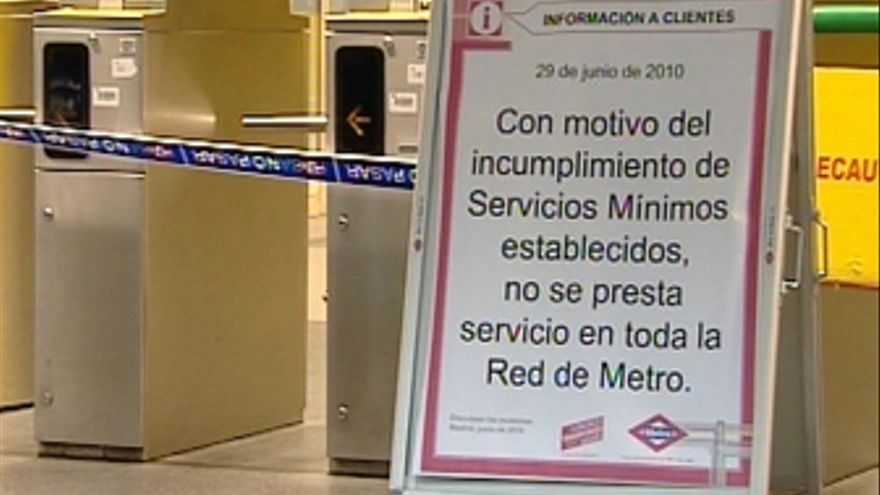 Huelga metro recursos