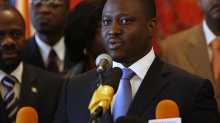 El primer ministro de Costa de Marfil Guillaume Soro
