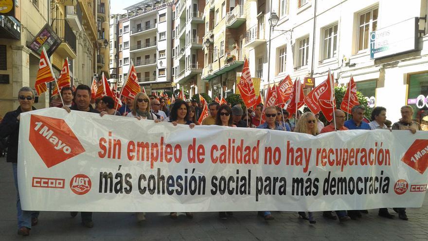 Manifestación del primero de mayo en Teruel