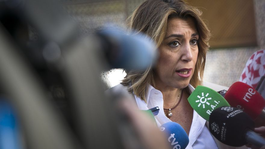 """Susana Díaz llama a """"redoblar esfuerzos"""" para apuntalar la """"victoria clara"""" que pronostica el CIS"""