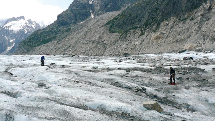 Encordamiento en Glaciar
