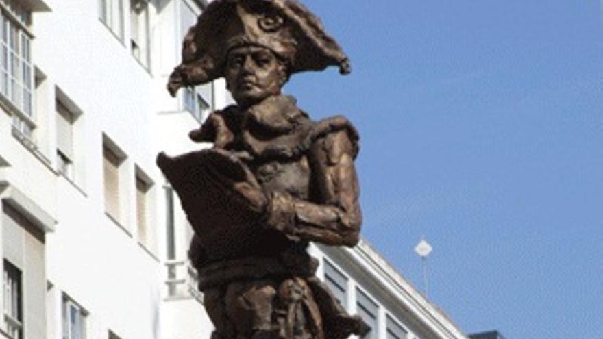 Estatua a Manuel Godoye en la ciudad de Badajoz / http://contenidos.educarex.es
